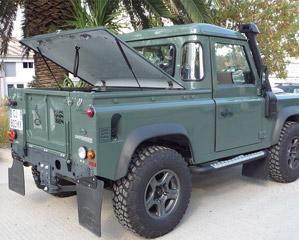 couvre benne land rover defender 90 pick up c t. Black Bedroom Furniture Sets. Home Design Ideas