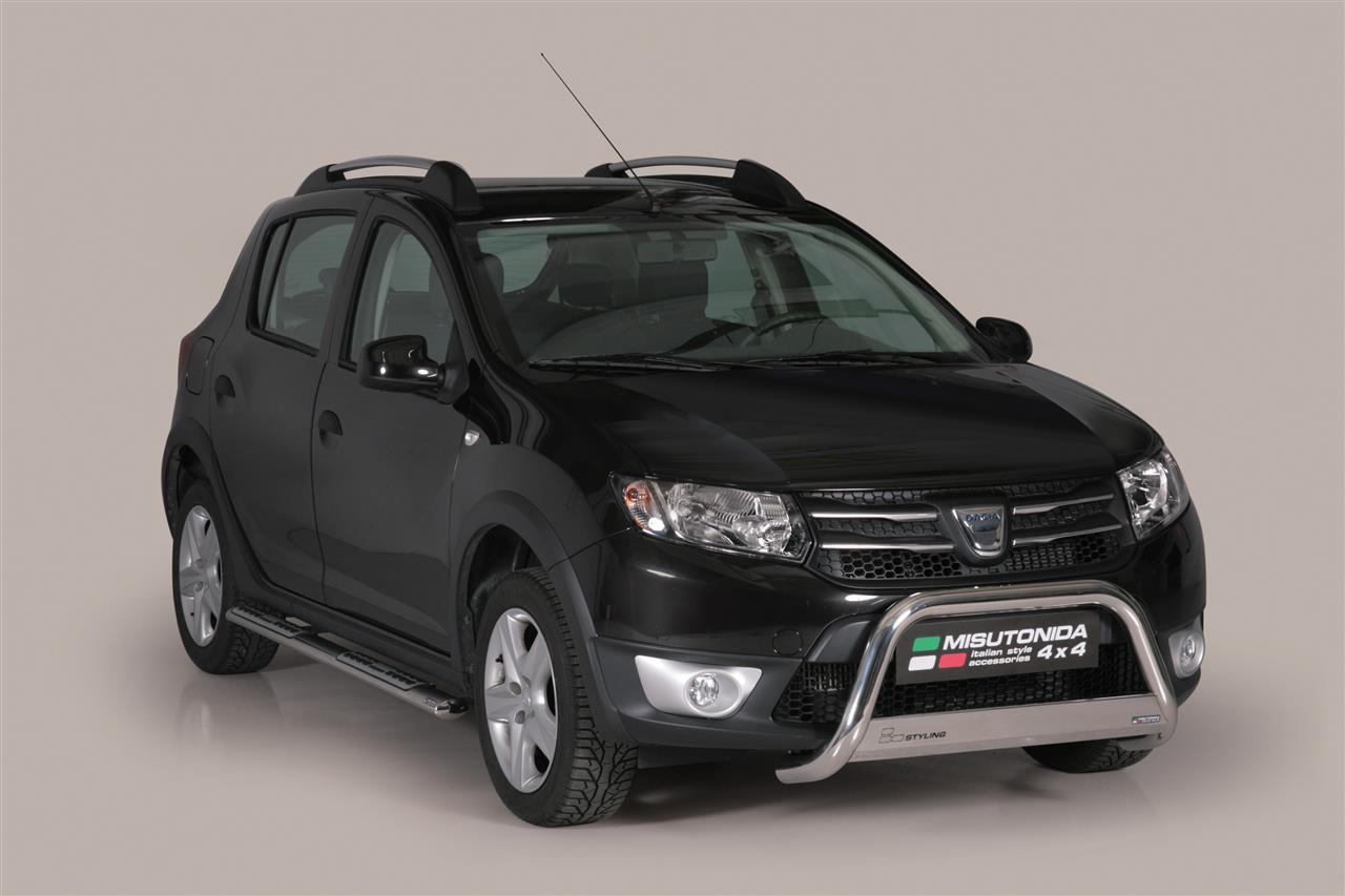 pare buffle dacia sandero stepway 2013 inox 63. Black Bedroom Furniture Sets. Home Design Ideas