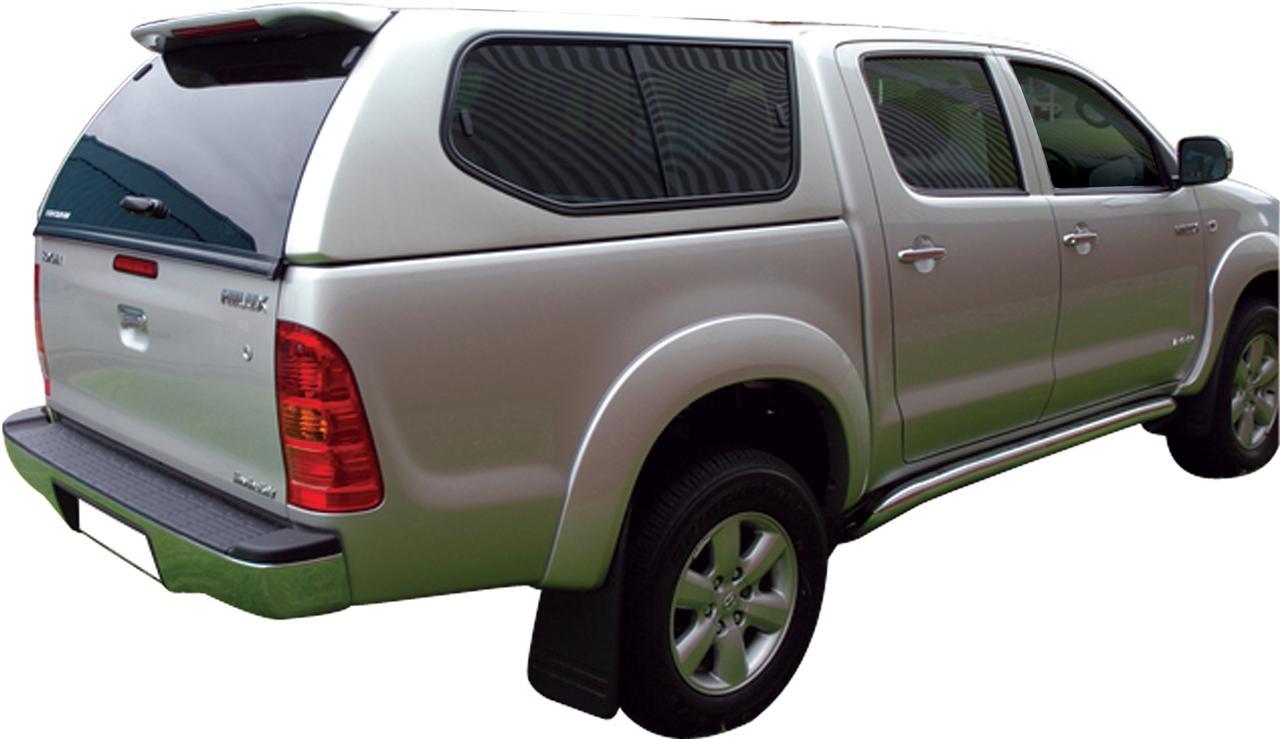 hard top toyota hilux/vigo sline gls 2005+ extra cab avec vitres