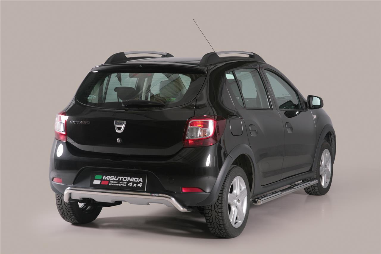 pare choc arriere inox 50 dacia sandero stepway 2013. Black Bedroom Furniture Sets. Home Design Ideas