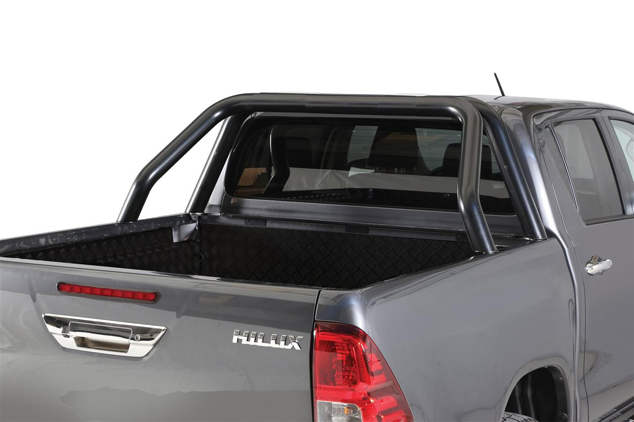 roll bar inox dbl tube inox noir new style 76 toyota hilux 16 dc ec. Black Bedroom Furniture Sets. Home Design Ideas