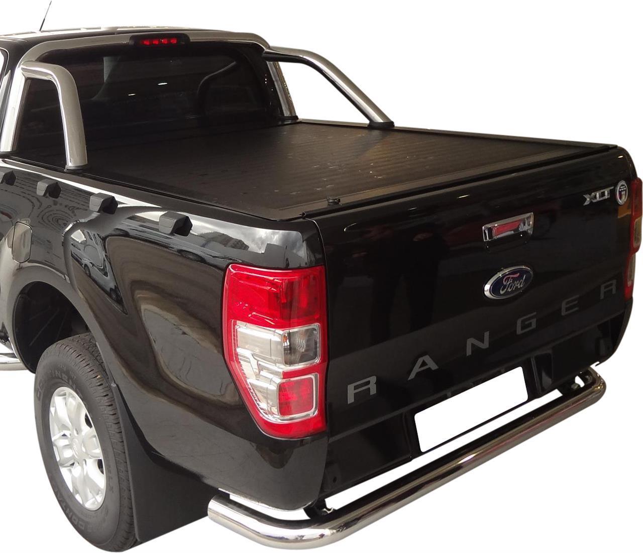 couvre benne retractable ford ranger 2012 double cab arceau inox origine. Black Bedroom Furniture Sets. Home Design Ideas